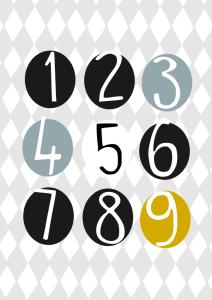 plakaty cyfry