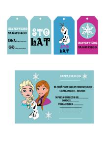 tagi i zaproszenie zaproszenia urodzinowe dla dzieci kraina lodu