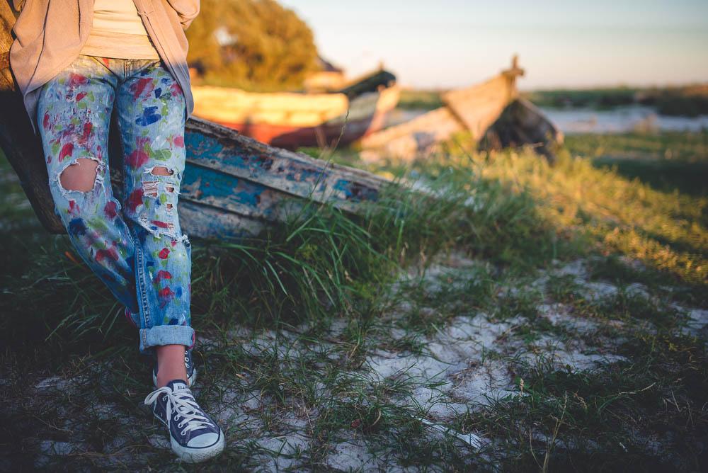 malowane spodnie