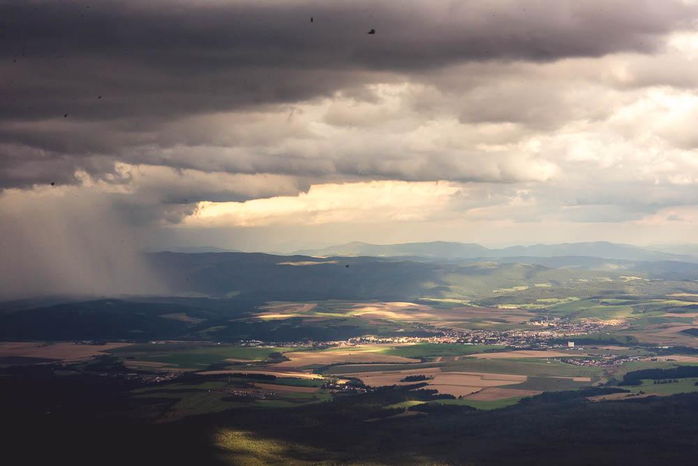 burza w gorach