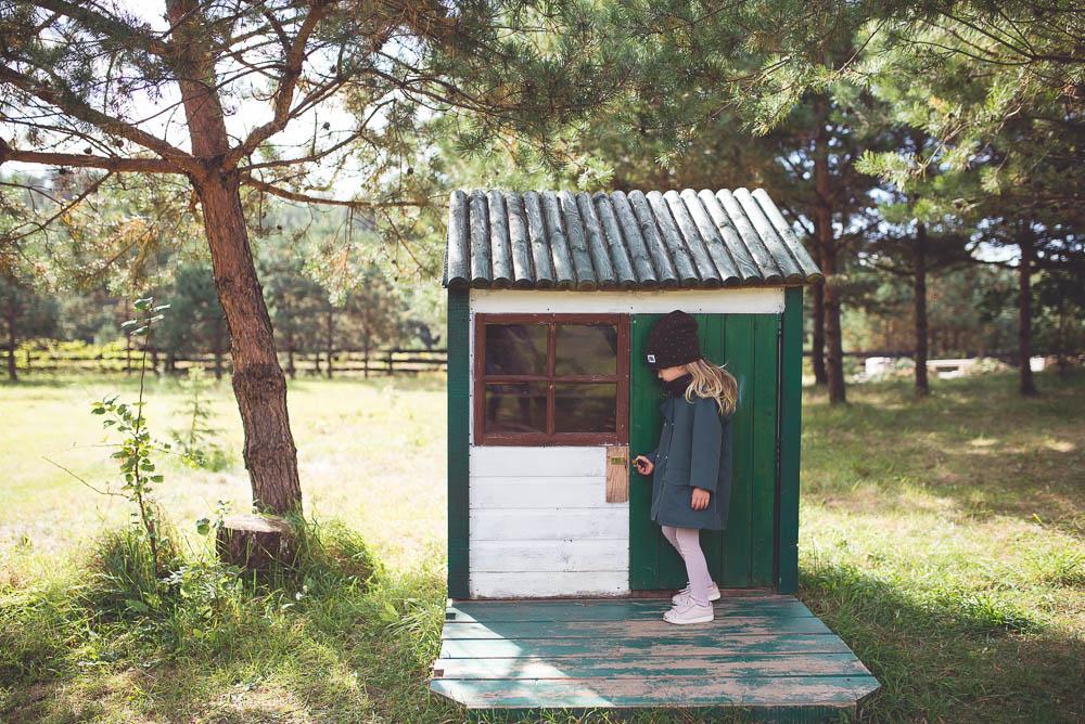 zielony domek dla dzieci