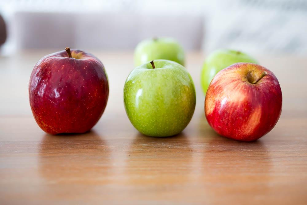 wosk na jablkach