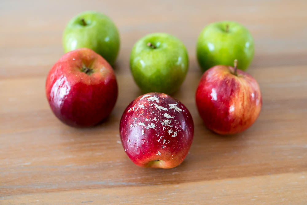woskowane jablka