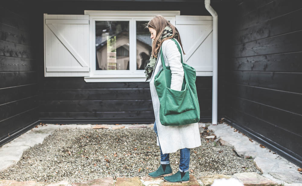 zielona torebka