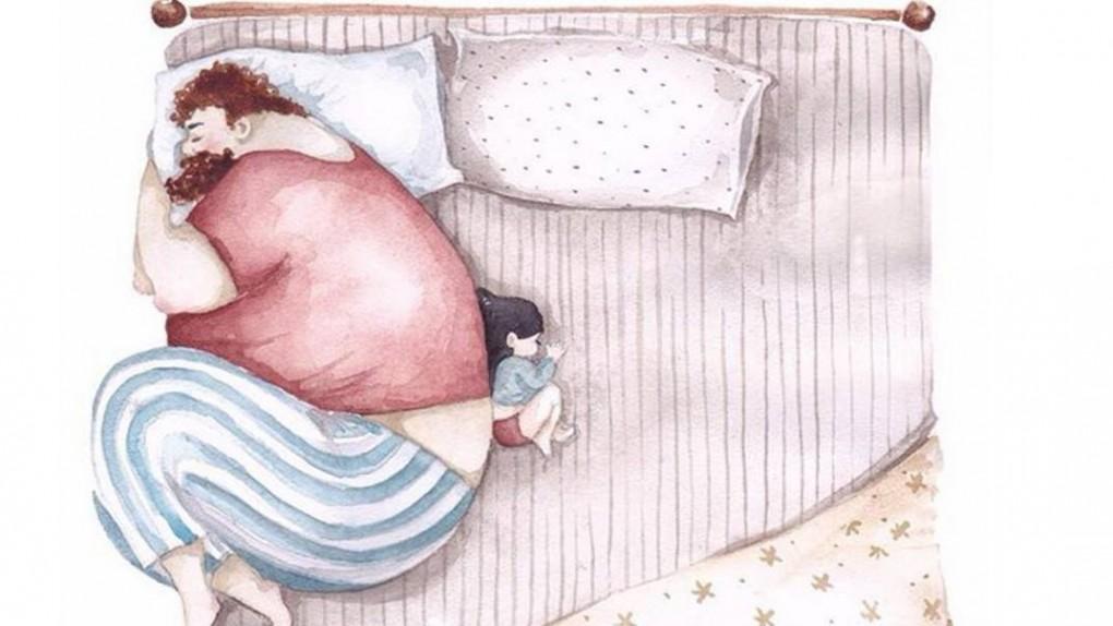 relacja taty z corka rysunki