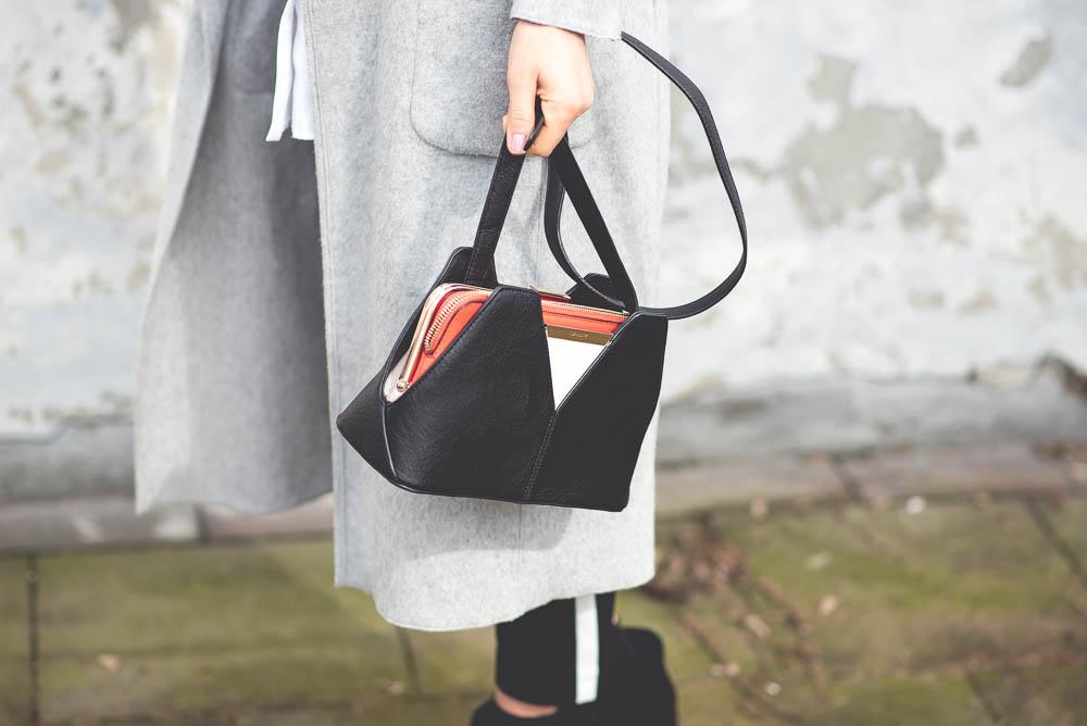 czarno pomaranczowa torebka
