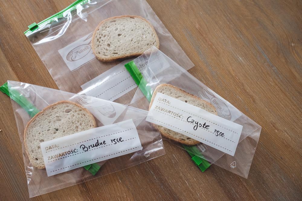 Eksperyment z trzema kromkami chleba i choroby brudnych rąk.