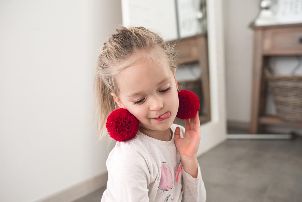 kolczyki dla malej dziewczynki
