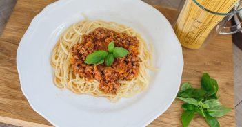 spaghetti z marchewka