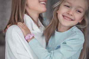 rozowy zegarek dla dziewczynki