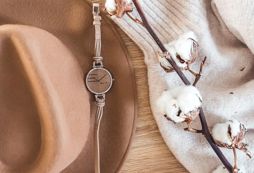 brozowy zegarek damski