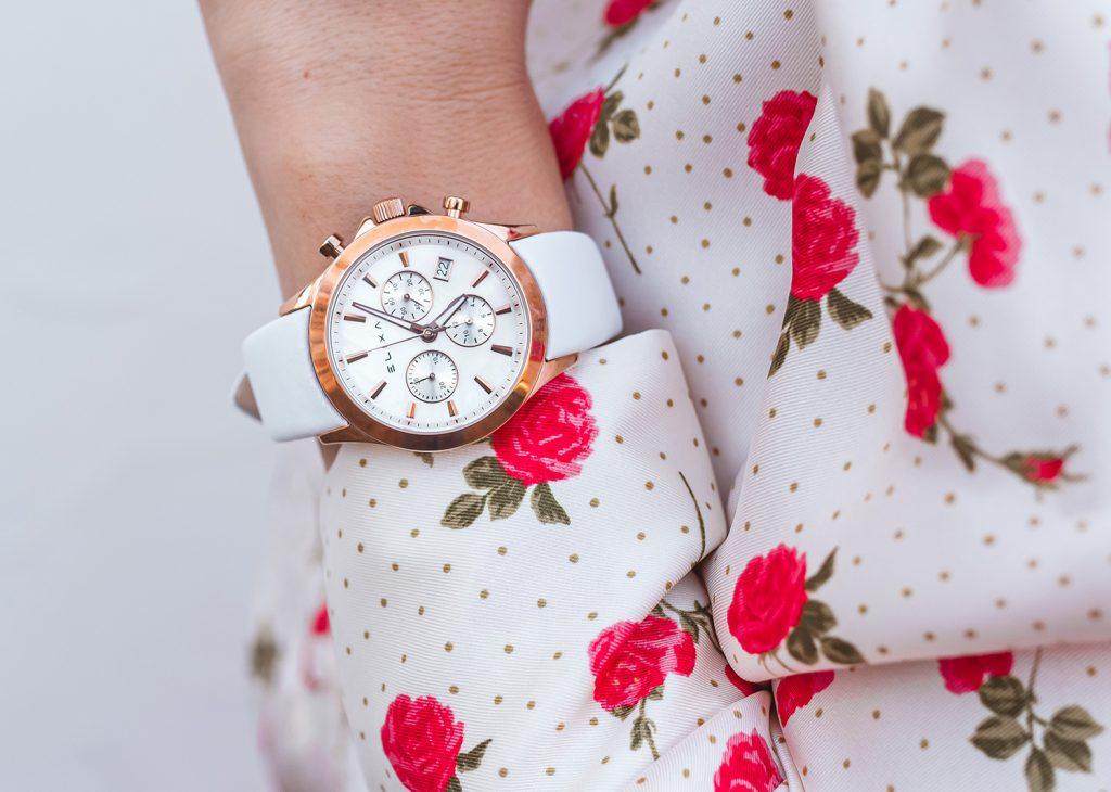 zegarek damski bialy